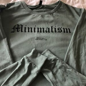 "H&M divided sage/green sweatshirt ""minimalism"""
